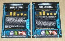 2013 Topps Star Wars Galactic Files S2 BLUE parallel BREMA ORGANA #450 1/350/350