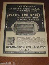 *=REMINGTON RASOIO BARBA=1961=PUBBLICITA'=ADVERTISING=WERBUNG=PUBLICITE=