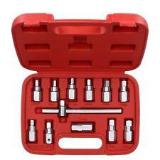 "Drain Plug Sump Key Set Gearbox Axle Repair Oil Change Kit 3/8"" Drive 12pcs Set"