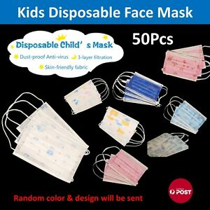 Kids Face Mask Children Masks Good Protective Three ply Mask for kid 50 pcs