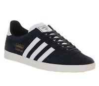 Mens Adidas Gazelle Og DARK INDIGO WHITE Trainers Shoes