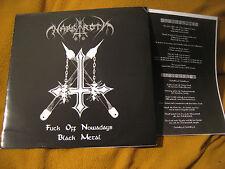 NARGAROTH f*off nowaday ORIG VINYL LP (#100) judas iscariot maniac butcher krieg