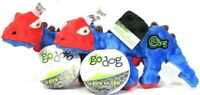 2 Ct Go Dog Chew Guard Technology Red & Blue Stegosaurus Strong Lasting Dog Toy