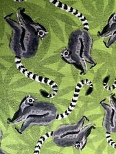 Nocturnal Animal Lemur Madagascar Animal Ring Tailed Lemur African Animal Fabric