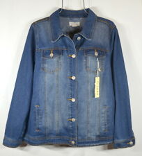 NEW CI SONO Women's Fall Size 2X Dark Wash Denim Jean Jacket NWT