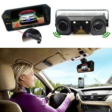"7"" Bluetooth MP5 Rearview Mirror Monitor 3in1 Car Parking Radar Backup Camera"