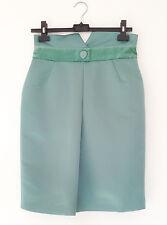 NEW Emporio Armani Mint Green Satin Knee Length Pencil Skirt sz 44 / UK 12 BNWT