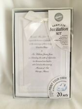 "Wilton ""Enchanting"" Complete Wedding Invitation Kit 20 Count"