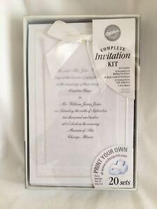 "Wilton ""Enchanting"" Complete Wedding Invitation Kit 20 Count"