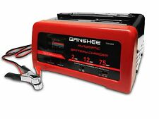 2/12/75A/12V Battery Charger with Engine Start, Suitable for 12V Lead-acid Batte