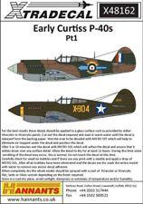 NEW 1:48 Xtradecal X48162 Curtiss P-40B Tomahawk (Warhawk) Pt 1