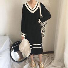 Korean Style Knit Casual Long Dress