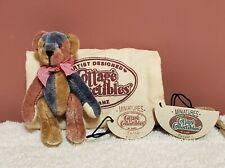 "Ganz Cottage Collectibles Miniatures - Puzzle Bear, Lynda Kunz Artist, 3"", TA"