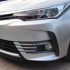 For Toyota Corolla E170 2017 2018 Chrome Front head Fog Light Lamp Cover Trim