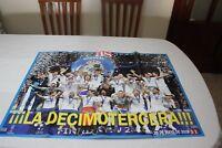 POSTER GRANDE DEL REAL MADRID COMO CAMPEON DE LA DECIMOTERCERA CHAMPIONS LEAGUE