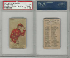 N22 Allen & Ginter, Racing Colors of the World, 1888, F Gebhard PSA 1.5 MK