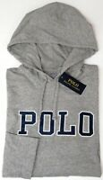 NEW $59 Polo Ralph Lauren Hoodie Gray Long Sleeve Hooded Tee Shirt Mens Grey NWT