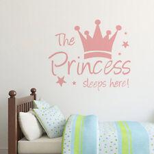 The Sleeping Princess Vinyl Wandaufkleber für Kinder Zimmer Wandtattoos