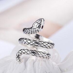 Open Snake Ring Gothic Punk Adjustable Retro Jewelry Men Women Vintage Alloy UK