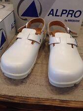 Birkenstock Alpro C 311 Work 44 US 11 11.5 Men Shoes 599071 White Leather Clog