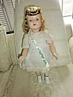 Wanda Walking Doll 18'' Toy Wind Up HP 1950s Original Clothes Vintage Works (C1)
