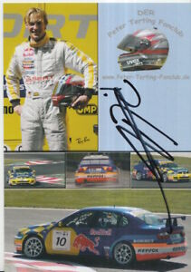 Peter Terting Hand Signed Promo Card Touring Cars Seat.