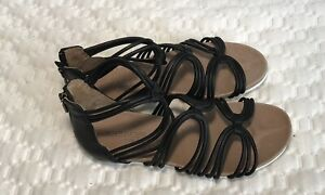 Gladiator sandals for women size 8M black ADAM TUCKER By Me Too