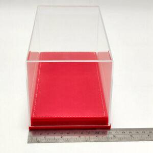 Model Car Acrylic Case Display Box Transparent Dustproof Red Flannel Bottom 23cm