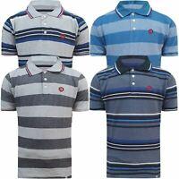 Mens Jack & Jones Stripe Polo Shirt Short Sleeve 100% Pique Top Regular T Shirt
