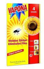 4 Vapona Window Sunflower Stickers Eliminates Flies Wasp Pest Attractor Repel
