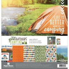 The Great Outdoors Camping 12x12 Scrapbooking Kit Paper House KTSP1062 New