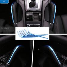 For Porsche Cayenne 2011-2017 ABS Blue Interior Door Armrest Sequins Trim 6pcs