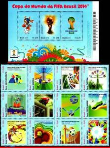 3265 3268 BRAZIL 2014 WORLD CUP, FIFA, FOOTBALL SOCCER , RHM B-179 C-3319-30 MNH
