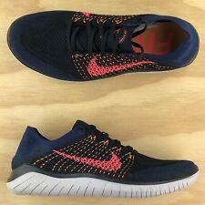 Nike Free RN Flyknit 2018 Black Navy Training Running Sneakers 942838-068 Size