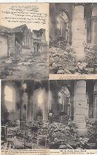 Lot 4 cartes postales anciennes GUERRE 14-18 WW1 MARNE SAINT-HILAIRE-LE-GRAND 1