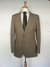 Vintage Levis Action Suit Mens Tan Brown Blazer Jacket Size 40 Long