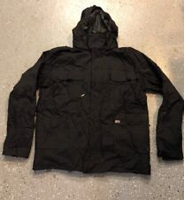 DC Black Mens XL Jacket winter coat ski snow snowboard Heavy Warm Thick Parkbuil