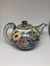 Grete von Holzhausen Teekanne handbemalt