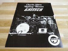 CHARLIE WATTS - Publicité de magazine / Advert GRETSCH !!!!!!!