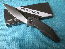 Twosun Knives Camping EDC D2 Titanium Bearing Fast Open Pocket Folder Knife TS57
