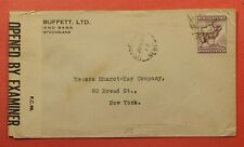 Dr Who 1943 Newfoundland Canada Grand Bank To Usa Wwii Censor C219342