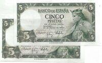 5 Peseta 1954 Alfonso X  Banco de España @ Sin Circular @ Pareja @