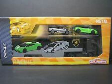 Majorette 1:64 Metal DieCast 1 truck + 2 cars - Lamborghini