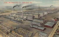 Postcard The Singer Manufacturing. Company in South Bend, Indiana~124399