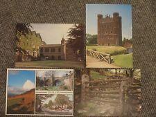 4 Postkarten Ansichtskarten Baslow Edge River Derwent Tattershall Castle Cliff