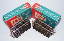 TRIX TTR 3-RAIL FIBRE BASE TRACK 2 x BOX OF 12 x #1708 HALF STRAIGHT MINT BOXED