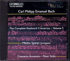 C.P.E. BACH Keyboard Concerto Vol.5 Miklos Spanyi BIS CD Carl Philipp Emaunel