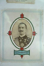 B.D.V. Silk- H.M. THE KING OF ITALY (apx. 11x9 cm)