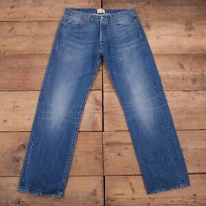 Vintage 90s Levis Levi LOT 501 Stonewash 1966 Blue Denim Jeans 33 x 32 R19526