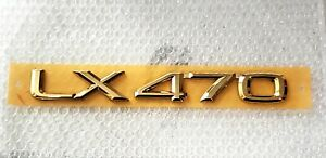 FITS New Lexus LX470 Emblem Rear Trunk Word LX470 Gold 2002 2003 2004 2005 2006